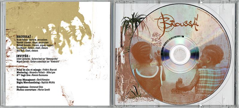 Campagne d'album Broussai Avec des mots CD int - Emmanuel Cloix