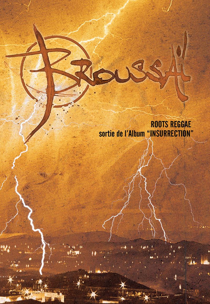 Campagne d'album Broussai Insurrection Flyer - Emmanuel Cloix