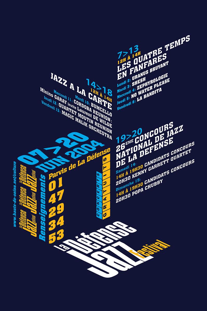 Poster La Défense Jazz Festival - Emmanuel Cloix