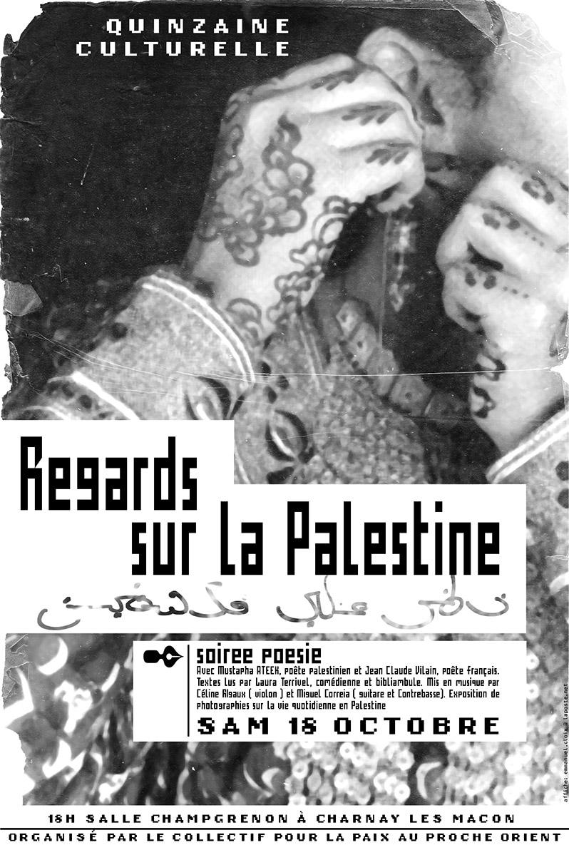 Affiche Regards sur la Palestine - Emmanuel Cloix