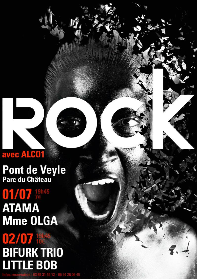 Rock Festival Poster - Emmanuel Cloix