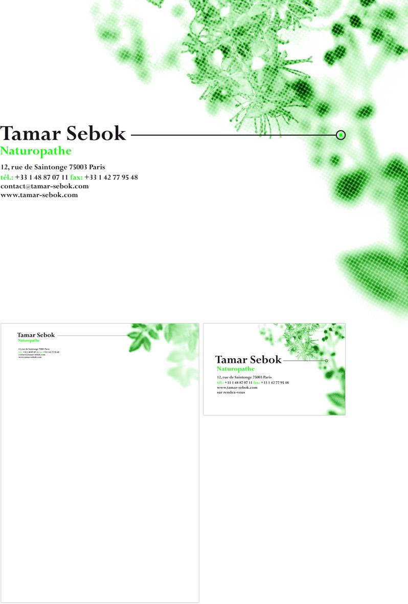 Tamar Sebok Naturopath Visual Identity - Emmanuel Cloix